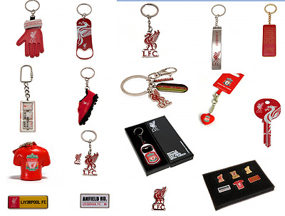 Liverpool FC Keyring Badge Bag Charm Door Key Bottle Opener Torch Leather Gift