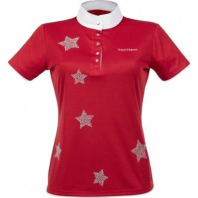 Equi-Theme Etoiles Horse Riding Star Short Sleeved Outdoor Stylish Show Shirt