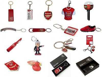 Arsenal FC Keyring Badge Bag Charm Door Key Bottle Opener Torch Leather Gift