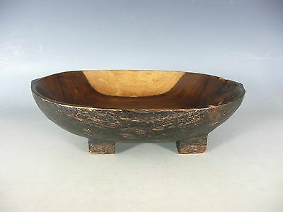 Zulu African Tribal Carved Wood Bowl 20Thc