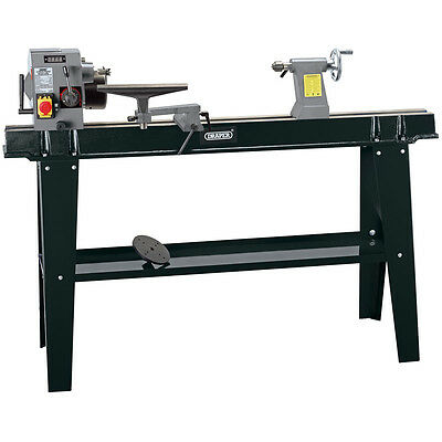 Draper 60990 750W 230V Digital Variable Speed Wood Lathe With Stand