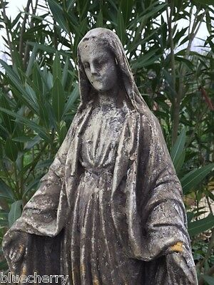 "19""Timeworn STATUE VIRGIN MARY OUR LADY OF GRACE In/Outdoor Garden Yard JDL Déco"