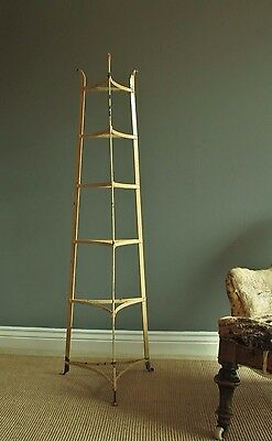 Victorian wrought Iron pot stand, six tier. country kitchen, decorative antique