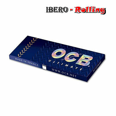 OCB ULTIMATE 1 1/4 25 LIBRITOS 78mm ROLLING PAPER PAPEL FUMAR PARA LIAR