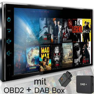 Autoradio mit DAB+ Navi Navigation Bluetooth TOUCHSCREEN DVD USB SD MP3 1DIN7