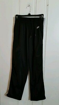 Nike Athletic Pants Small Black With Gray Stripes
