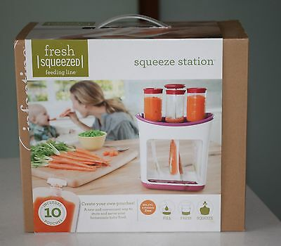 Brand New Infantino Squeeze Station baby food pouch maker