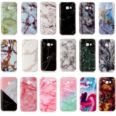 Ultra Slim Marble Pattern Rubber Soft TPU Back Case Cover For Samsung Galaxy