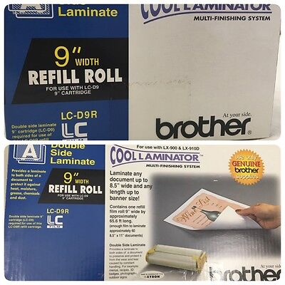 "LC-D9R Brother 9"" Width Refill Rolls for Cool Laminator LX-900 LX-910D Free Ship"