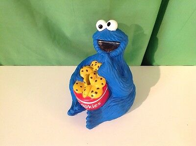Cookie Monster Toy Coin Bank, Sesame Street, Muppets, Jim Henson Products 1998