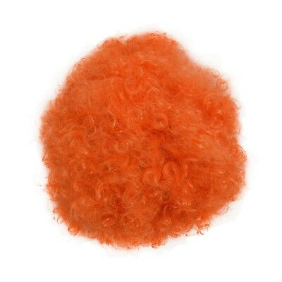 Halloween Maenner Frauen orange Curly Afro Zirkus-Clown-Peruecke T7E2
