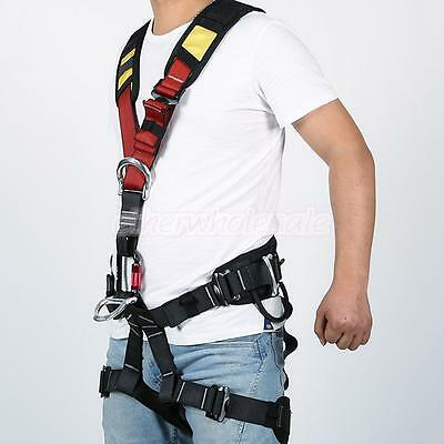 Hot Full Body Safety Harness Rock Climbing Caving Construction Tree Rigging Gear