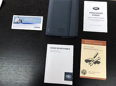Land Rover Evoque 2014  Owners Manual Books With Case Oem .FREE SHIPPING