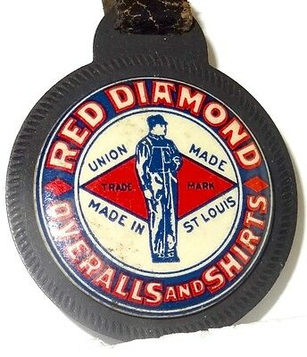 Red Diamond Overalls & Shirts Leather Watch Fob