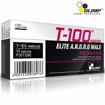 T-100 Hardcore 30-180 Caps.  Pro Testosterone Booster Natural Hormone Support