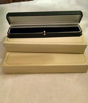 Lot of 6 black bracelet/watch boxes