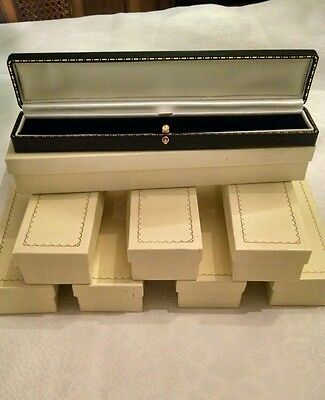 Lot of 12 black antique style bracelet box
