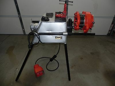 """RIDGID 4PJ 2-1/2"""" to 4"""" WITH OSTER ELECTRIC PIPE THREADING MACHINE 115V. 300"""