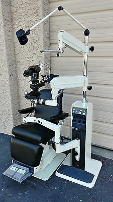 Reliance Exam Chair & Stand w/Slit  Lamp & Phoropter Arms & Marco Keratometer