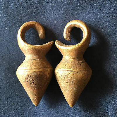 Vintage Dayak Gasing Ear Weights Borneo Tribal Jewelry