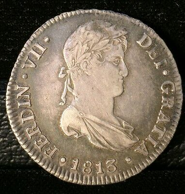 1813 4 Reales Silver Coin No Reserve Auction!!!!!!!!!!!