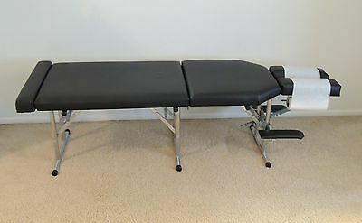 Portable Chiropractic Table; Black - in Excellent Condition!