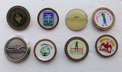 JOB LOT of 8 Collectible Golf Ball Marker's