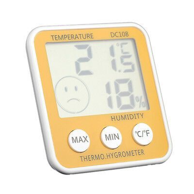 D26 Digital temperature gauges hygrometer LCD Thermometer Humidity halls Fahrenh