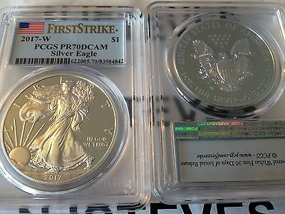 2017 W PCGS PR70DCAM PROOF Amercian SILVER Eagle $1 1oz FIRST STRIKE PR70 NO OGP