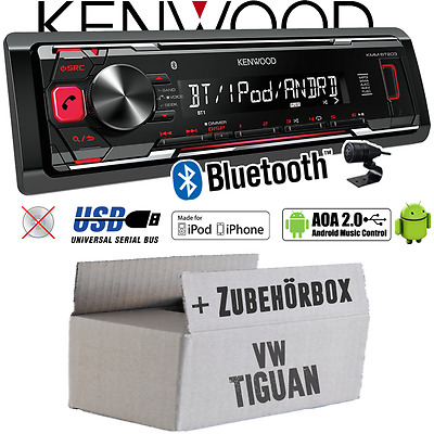 Kennwood Radio per il VW Tiguan Bluetooth MP3 USB iPhone-Android Kit autoradio
