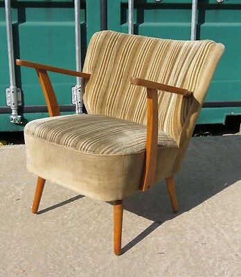 Single Mid Century Vintage East German Cocktail Arm Chair  C1970 Armchair