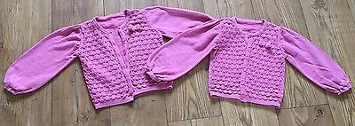 Twin Girl Cardigans X2 Age 3-4 Years PINK