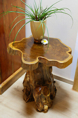 Side Table Teak Solid Wood Telephone Table Coffee Table Root Wood Tree NEW