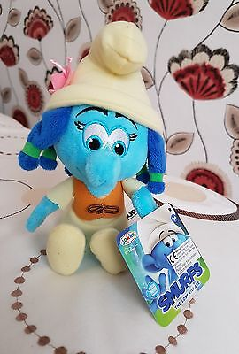From The New Smurfs Movie: The Lost Village, Plush Hefty Smurflily Bnwt