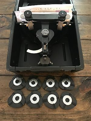 Hanau Wide-Vue Articulator With Case And 8 Magnetic Mounting Plates