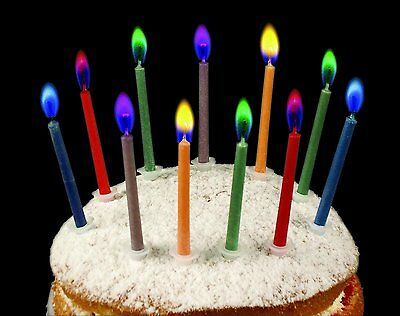 Birthday Flashing Number Candles Unisex Boy Or Girl Cake Holders Ages 0-9