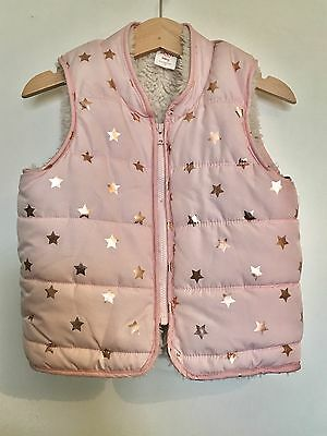 Seed Baby Size 18-24mths Puffer Vest Pink Rose Gold Puffa Jacket Girls Toddler