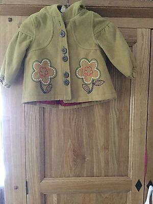 Next Baby Girls Jacket Coat 12-18 Months Fab Condition