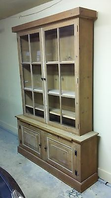 "Washed Pine Hutch-excellent condition, 60"" wide x14.5"" deep x 87"""