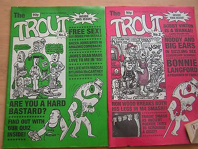 TROUT ADULT COMIC X2 ISSUES No 2 & 3 LIKE VIZ 1990