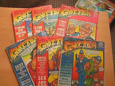 GUTTER ADULT COMIC X6 ISSUES No 1, 3-5, 9, 11 LIKE VIZ 1990'S