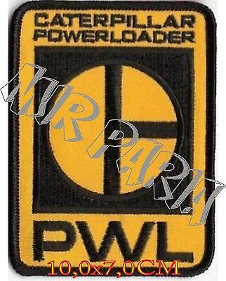"786316 CAT POWERLOADER"" Caterpillar PWL Logo Embroidered Patch Toppa Ricamata"