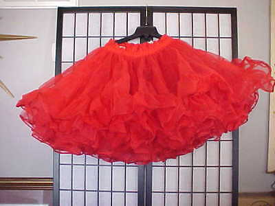 Preowned Red Square Dance Petticoat - Sz Small  by Partners Please