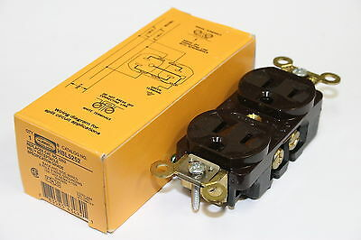 "Lot of 10 Hubbell HBL5252 15A 125V NEMA 5-15R 3-Wire Grounding Receptacles ""NEW"""