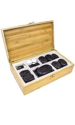 Sivan Basalt Lava Hot Stone Massage 60pc Kit New and Improved Packaging