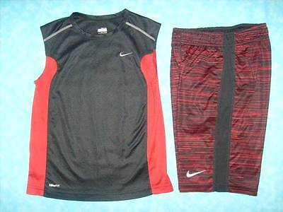 Boy's NIKE 2 Piece Dri-Fit Short Outfit Size Small (8) - Excellent Conditon!
