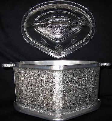 Guardian Service Ware Triangle ROASTER  STOCK POT Hammered Aluminum w GLASS Lid