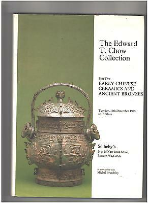Sotheby's Catalog, Hardcover, Chinese Ceramics, Edward T Chow Collection Part II