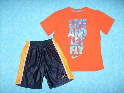 Boy's NIKE 2 Piece Short Outfit - Shirt Size Small & Shorts Size 7 - EUC!