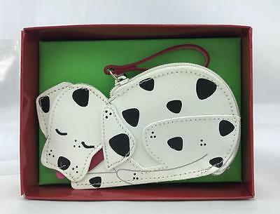 NEW in Box ROLFS DALMATION Dog Leather Wristlet Key Chain Coin Change Purse